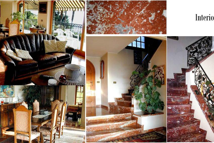 interni in marmo rosso di Francia
